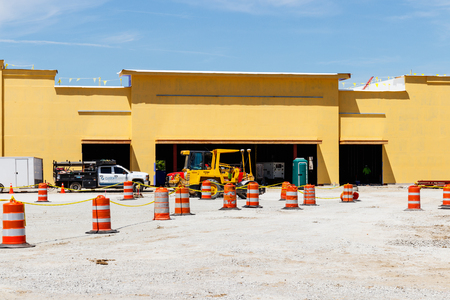 Kokomo - Circa May 2018: New strip mall construction. Even with competition from the internet, brick and mortar stores are still in demand I Editorial