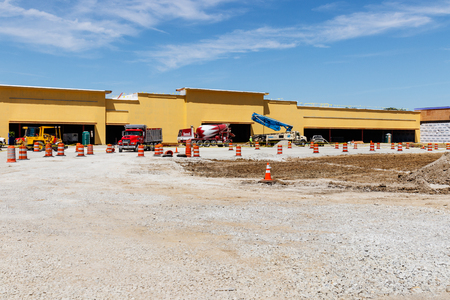 Kokomo - Circa May 2018: New strip mall construction. Even with competition from the internet, brick and mortar stores are still in demand III
