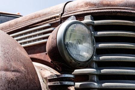 Kokomo - Circa May 2018: Old, rusty Diamond T Pickup Truck II