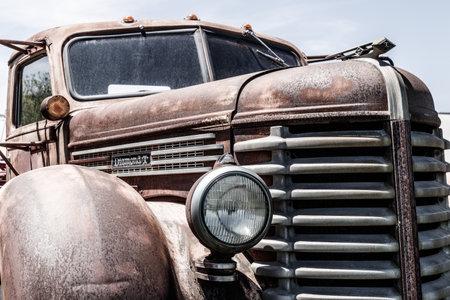 Kokomo - Circa May 2018: Old, rusty Diamond T Pickup Truck I Editorial