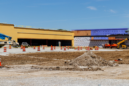 Kokomo - Circa May 2018: New strip mall construction. Even with competition from the internet, brick and mortar stores are still in demand II