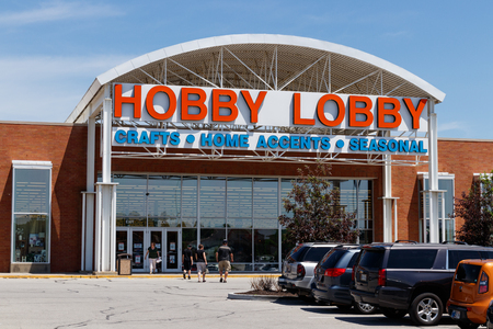 Westfield - Circa June 2018: Hobby Lobby Retail Location. Hobby Lobby is a Privately Owned Christian Principled Company I