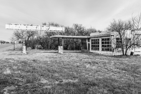 Abandoned gas station I Editorial