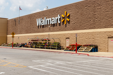 Monticello - Circa June 2018: Walmart Retail Location. Walmart is boosting its internet and ecommerce presence to keep up with competitors IX
