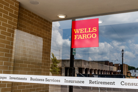Monticello - Circa June 2018: Wells Fargo Signage and Logo. Wells Fargo is selling all its branches in three Midwestern states III
