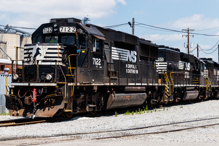 Ft. Wayne - Circa June 2018: Norfolk Southern Railway Engine Train. NS is a Class I railroad in the US and is listed as NSC II