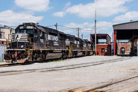 Ft. Wayne - Circa June 2018: Norfolk Southern Railway Engine Train. NS is a Class I railroad in the US and is listed as NSC III