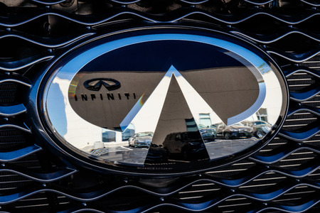 Indianapolis - Circa July 2018: Infiniti Car and SUV Dealership. Infiniti is the Luxury Vehicle Division of Nissan I