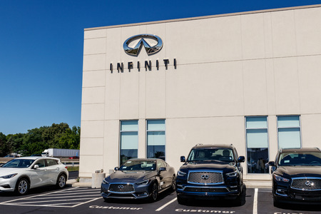Indianapolis - Circa July 2018: Infiniti Car and SUV Dealership. Infiniti is the Luxury Vehicle Division of Nissan II