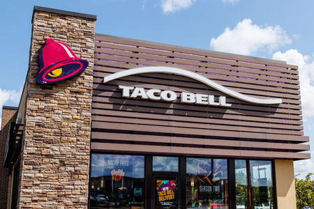 Westfield - Circa July 2018: Taco Bell Retail Fast Food Location. Taco Bell is a Subsidiary of Yum! Brands II