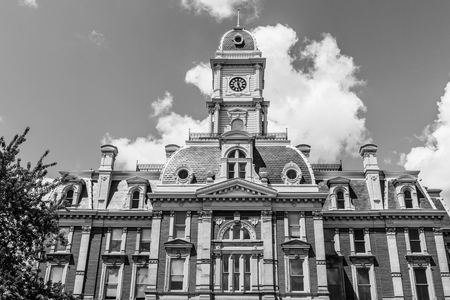 Noblesville - Circa July 2018: The old Hamilton County courthouse. Construction  began in 1877 and the commissioners formerly took possession in July 1879 I