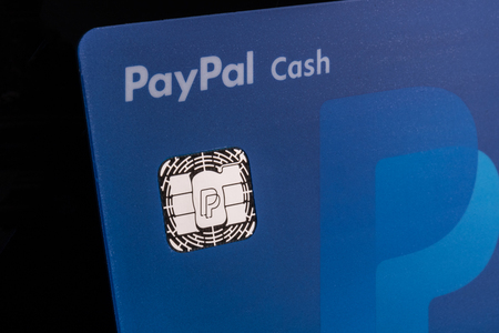 Indianapolis - Circa July 2018: PayPal Debit Cash card. PayPal offers a digital payment platform allowing online and mobile transactions I