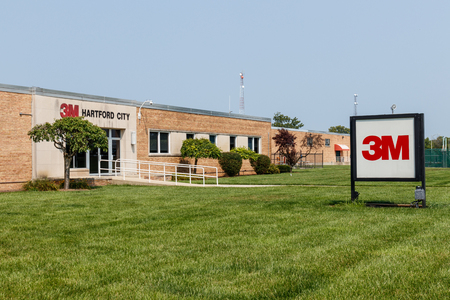 Hartford City - Circa August 2018: 3M tape manufacturing facility. This plant is part of the Industrial, Adhesives and Tape Division IV