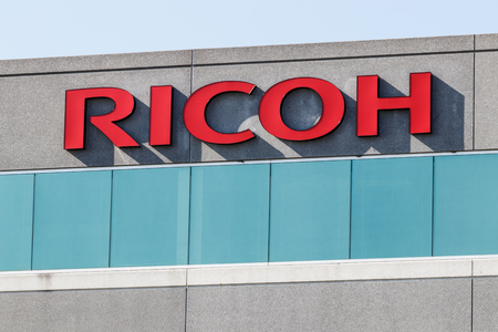 Indianapolis - Circa August 2018: Ricoh USA Digital Business Services and Printing Solutions location. Ricoh is an imaging and electronics company based in Japan I