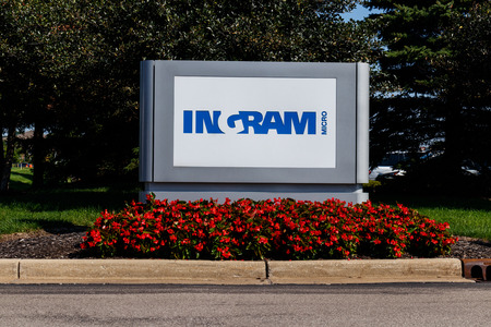 Plainfield - Circa August 2018: Ingram Micro Mobility global fulfillment and commerce solutions center. Ingram Micro resells IT products II