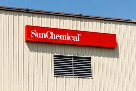 Frankfort - Circa August 2018: Sun Chemical plant. Sun Chemical is the largest producer of printing inks and pigments I Editorial