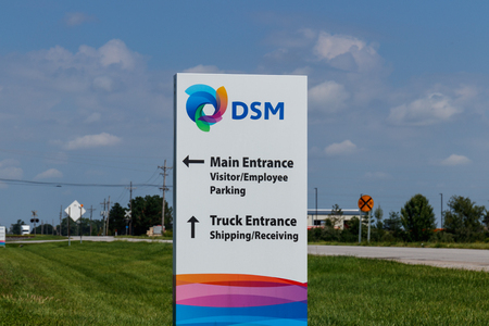 Frankfort - Circa August 2018: Royal DSM Coating Resins Plant. DSM is a chemical and food additive manufacturer I Redactioneel