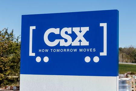 Lafayette - Circa October 2018: CSX Logo and signage. CSX operates a Class I train railroad in the US VII