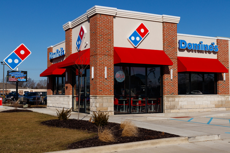 Indianapolis - Circa January 2019: Domino's Pizza Carryout Restaurant. Dominos is consistently one of the top five companies in terms of online transactions II
