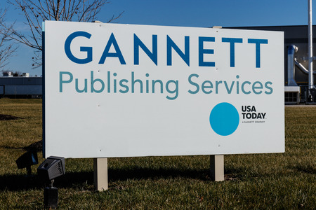 Indianapolis - Circa January 2019: Gannett Publishing Services and commercial printing facility for the Indianapolis Star and USA Today I