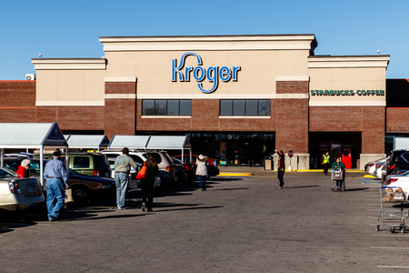 Indianapolis - Circa January 2019: Kroger Supermarket. The Kroger Co. is One of the Worlds Largest Grocery Retailers I
