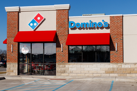 Indianapolis - Circa January 2019: Domino's Pizza Carryout Restaurant. Dominos is consistently one of the top five companies in terms of online transactions I