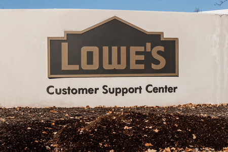 Indianapolis - Circa January 2019: Lowes Home Improvement Customer Service Center. Lowes operates retail home improvement and appliance stores in North America I