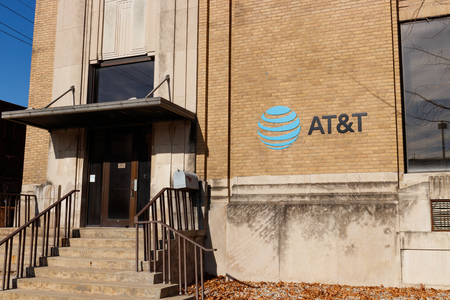 Kokomo - Circa December 2018: AT&T Mobility Wireless Retail Store. AT&T now offers IPTV, VoIP, Cell Phones and DirecTV IV Editorial