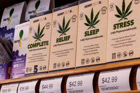Indianapolis - Circa February 2019: HempCeutix health products with phytocannabinoids. The popularity of hemp as a medicinal product has skyrocketed II