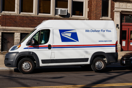 Cincinnati - Circa February 2019: USPS Post Office Mail Truck. The USPS is Responsible for Providing Mail Delivery I