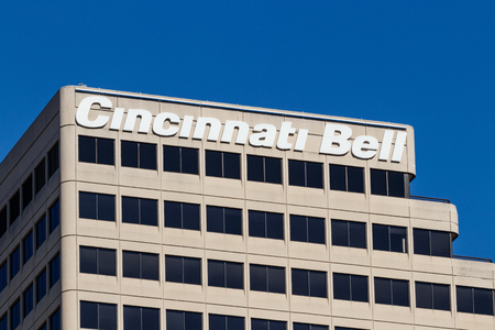 Cincinnati - Circa February 2019: Cincinnati Bell Headquarters in downtown. Cincinnati Bell offers landline, internet and TV plans I Sajtókép