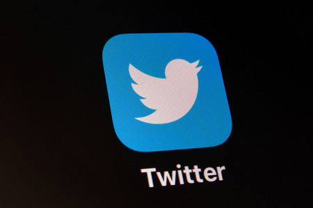 Indianapolis - Circa February 2019: App and logo of social media giant Twitter. Twitter takes the opinion pulse of the world everyday I