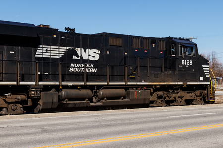 Indianapolis - Circa March 2019: Norfolk Southern Railway Engine Train. NS is a Class I railroad in the US and is listed as NSC III