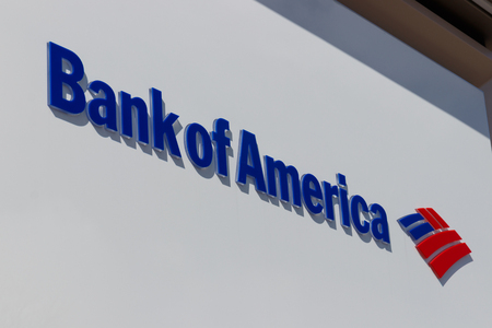 Indianapolis - Circa March 2019: Bank of America Bank and Loan ATM. Bank of America is a Banking and Financial Services Corporation I