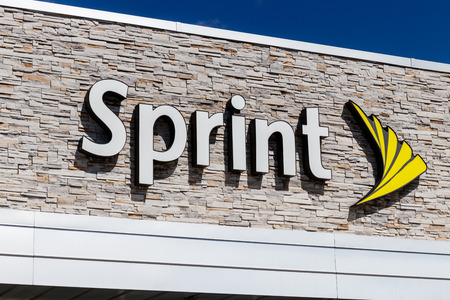 Indianapolis - Circa March 2019: Sprint Retail Wireless Store. Sprint is a Subsidiary of Japan's SoftBank Group Corporation I