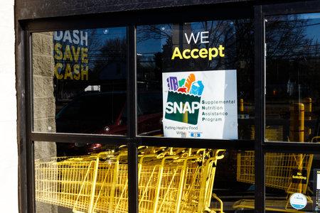 Marion - Circa March 2019: Sign at a Retailer - We Accept SNAP II