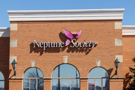 Indianapolis - Circa March 2019: Neptune Society planning center. Neptune Society offers cremation planning services I