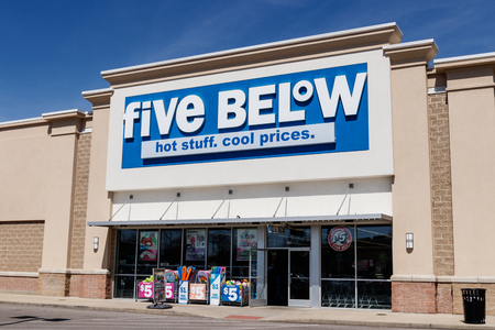 Muncie - Circa March 2019: Five Below Retail Store. Five Below is a chain that sells products that cost up to $5 I Editorial