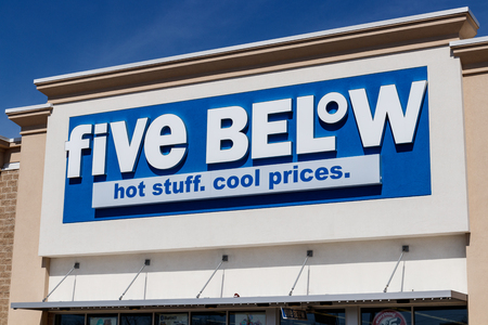 Muncie - Circa March 2019: Five Below Retail Store. Five Below is a chain that sells products that cost up to $5 II