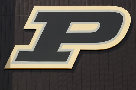 West Lafayette - Circa April 2019: The logo of Purdue University sports teams. A member of the Big Ten, Purdue hosts teams from the midwest II