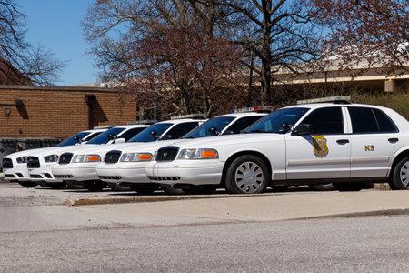 Indianapolis - Circa April 2019: Fleet of Indianapolis Metropolitan Police Department cars. IMPD has jurisdiction in Marion County II