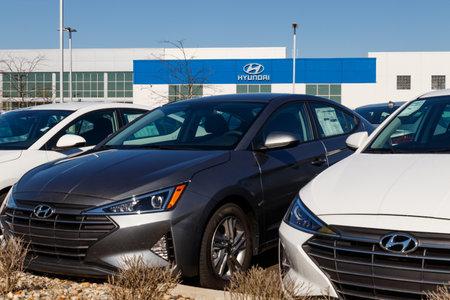 Noblesville - Circa April 2019: Hyundai Motor Company Dealership. Hyundai is a South Korean Multinational Automotive Manufacturer II Stok Fotoğraf - 125169546