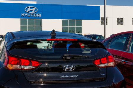 Noblesville - Circa April 2019: Hyundai Motor Company Dealership. Hyundai is a South Korean Multinational Automotive Manufacturer III 報道画像