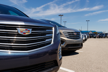 Noblesville - Circa April 2019: Cadillac Automobile Dealership. Cadillac is the Luxury Division of General Motors III