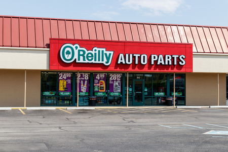 Tipton - Circa May 2019: OReilly Auto Parts Store. OReilly is a Retailer and Distributor of Automotive Parts I