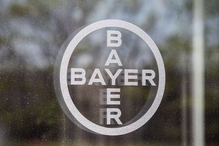 Whitestown - Circa May 2019: Bayer AG logo. After the acquisition of Monsanto, Bayer is responsible for its glyphosate lawsuits II