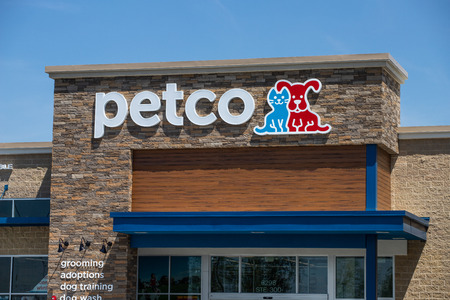 Whitestown - Circa May 2019: Petco Animal Supplies Location. Petco operates more than 1,300 locations across the US I