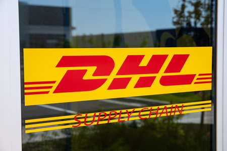 Whitestown - Circa May 2019: DHL Supply Chain location. DHL is rolling out a new fleet of 63 electric delivery vans in the U.S. I Editorial