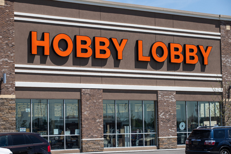 Whitestown - Circa May 2019: Hobby Lobby Retail Location. Hobby Lobby is a Privately Owned Christian Principled Company I