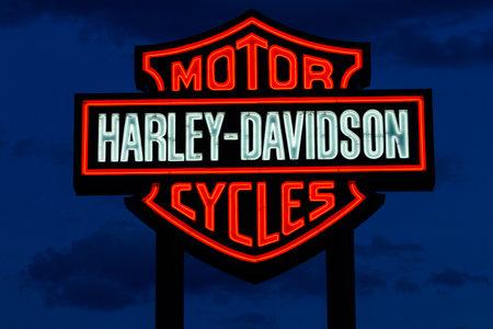 Las Vegas - Circa June 2019: Harley Davidson logo and signage. Harley Davidson Motorcycles are known for their loyal following I